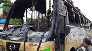 Bus torched over death rumour in road accident