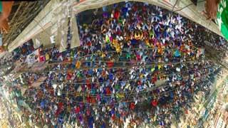 বিএনপির অবস্থান কর্মসূচীতে জনতার বাধভাঙ্গা জোয়ার