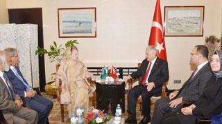 Khaleda Zia meets Turkish PM