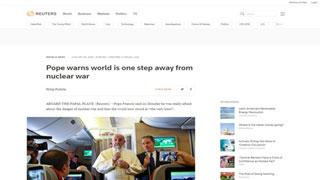 পারমাণবিক যুদ্ধের দ্বারপ্রান্তে বিশ্ব : পোপ ফ্রান্সিস