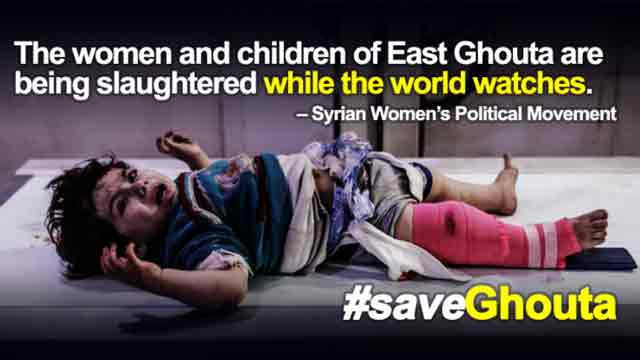 Women, children are being slaughtered while world watches