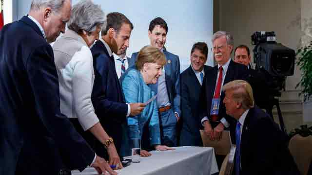G7 summit ends in disarray