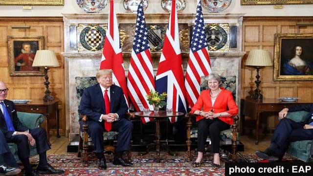 Donald Trump meets Theresa May