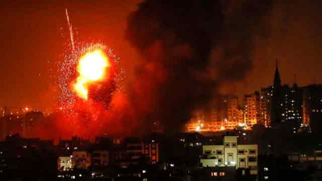 3 Palestinians killed in Israeli airstrikes in Gaza Strip