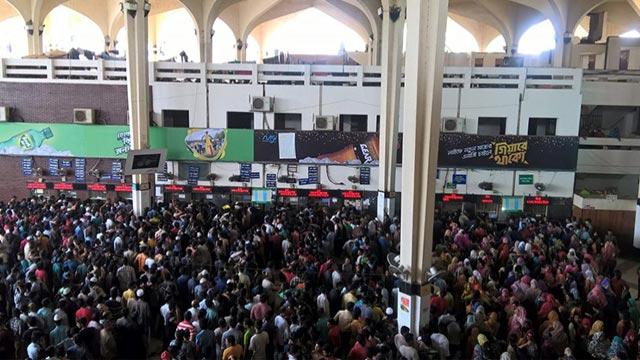 Internet problem halts advance Eid train ticket sale