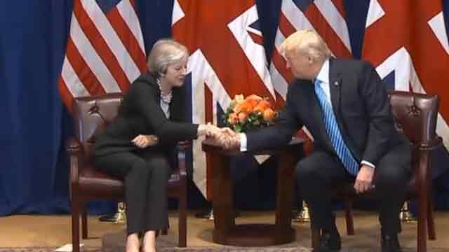 Trump meets UK PM Theresa May