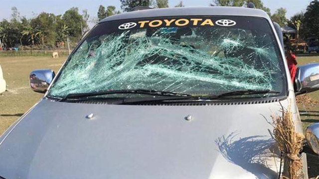 BNP Secy General's motorcade attacked