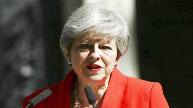 Theresa says she'll quit as Conservative leader June 7
