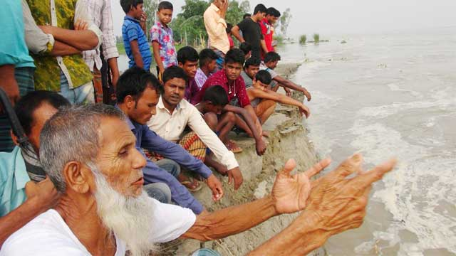 New areas submerged in Sherpur