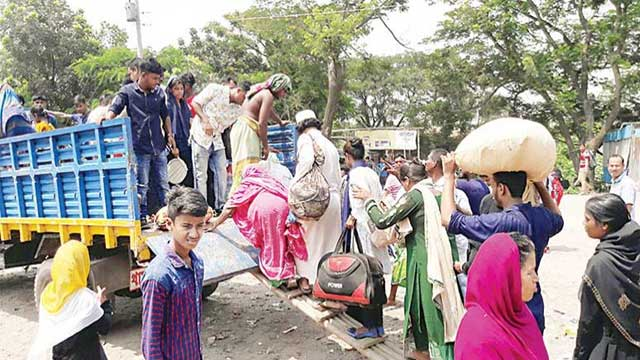 Post-Eid journeys back to Dhaka heavily interrupted
