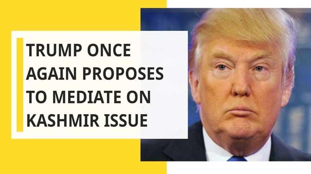 Trump offers to mediate explosive Kashmir standoff