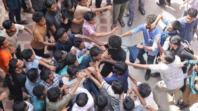 BCL men attack DU students demonstrating against corruption