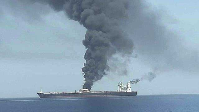 Iran oil tanker hit by two missiles off Saudi coast