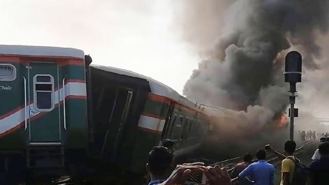 Train accident again, this time in Sirajganj