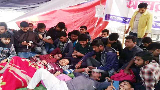 Hunger strike for polls deferment at DU