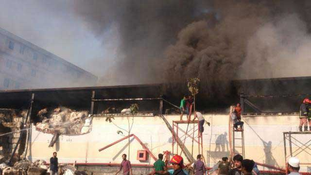 Fire at spinning mill in Gazipur