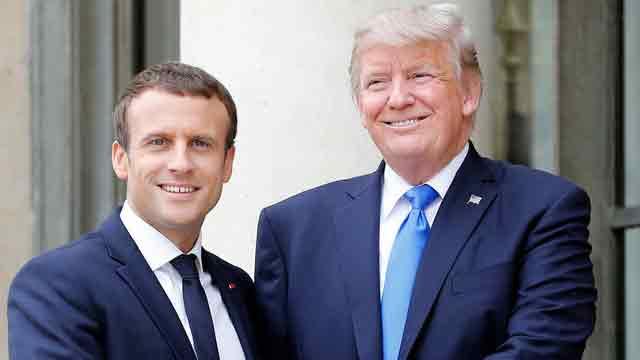 Trump calls with Emmanuel Macron