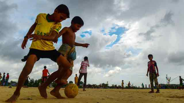 World Cup fever still raging in Rohingya camps