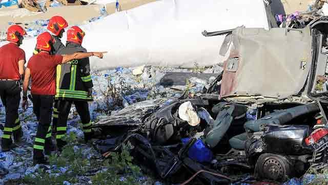 35 dead as rescuers search for survivors