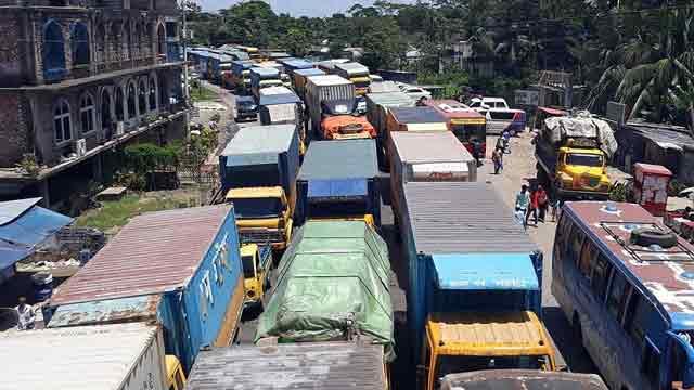 ঢাকা-চট্টগ্রাম মহাসড়কে ২০ কিলোমিটার যানজট