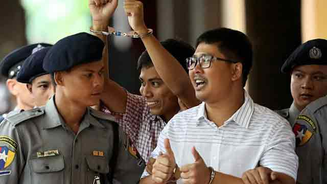 2 Reuters reporters jailed for 7 yrs in Myanmar secrets case