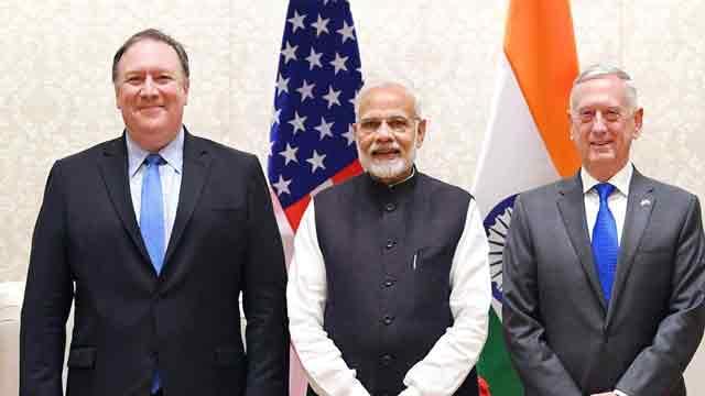 Secretary Pompe meets Indian Prime Minister Modi