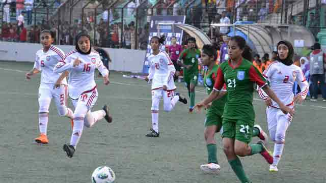 Mogini hat-trick helps Bangladesh to 7-0 win