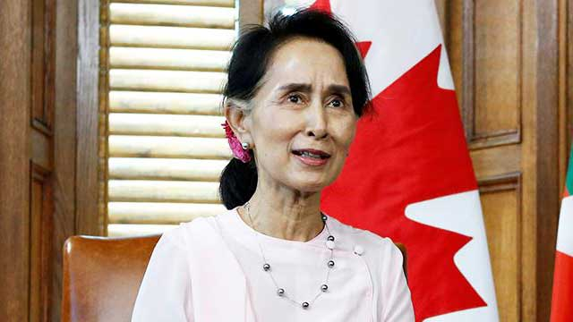Suu Kyi to become first person stripped of honorary Canadian citizenship