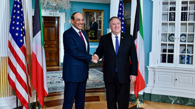 Pompeo meets Kuwaiti Deputy Prime Minister