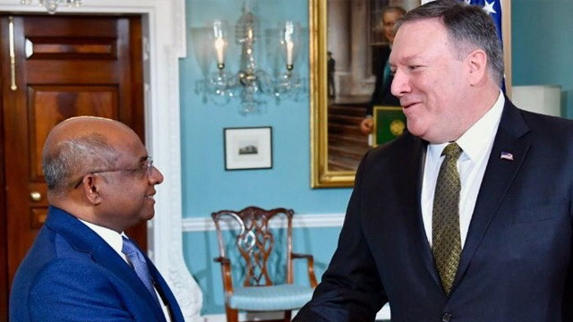 Secretary Pompeo meets Maldives Foreign Minister