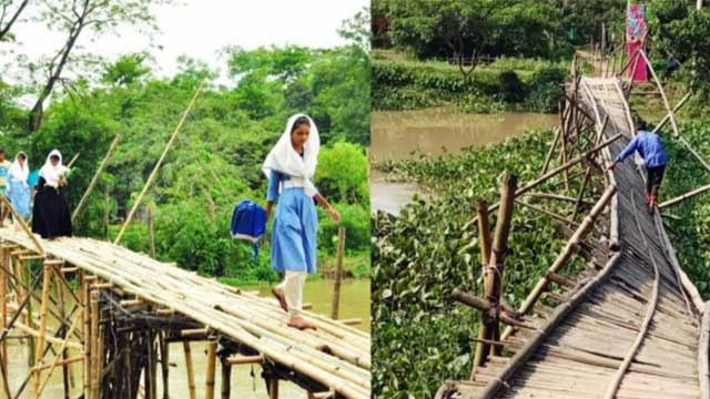 Thousands suffer as bamboo bridge collapses in Sylhet