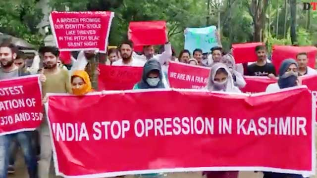 Stop oppression in Kashmir