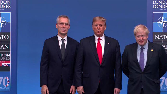 Trump aims for role of NATO statesman but mars unity message