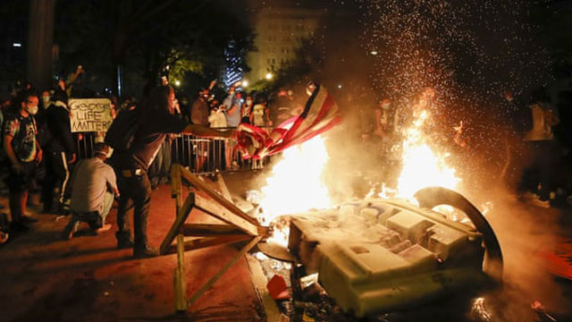 Violence erupts in US cities