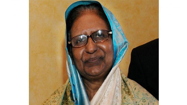 Ex-Home Minister Sahara Khatun passes away