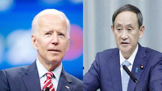 President Biden speaks with Japan Prime Minister Yoshihide Suga