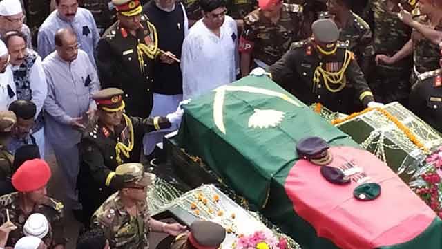 Ershad finally laid to rest at his Rangpur Polli Nibash