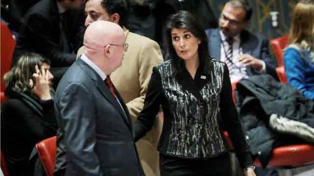 Russia berates US for UN talks on 'internal affair'