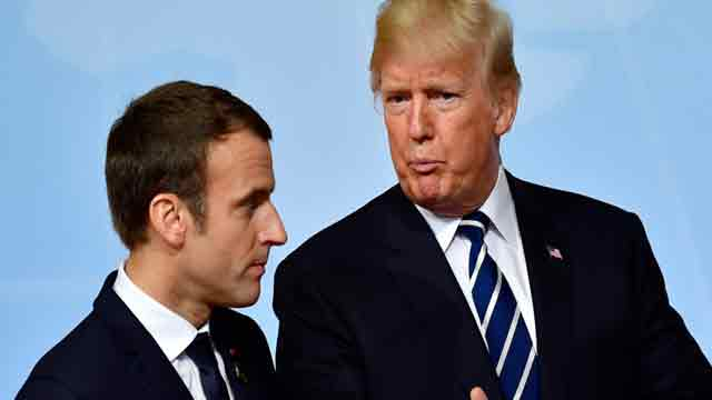 Trump speaks with Emmanuel Macron