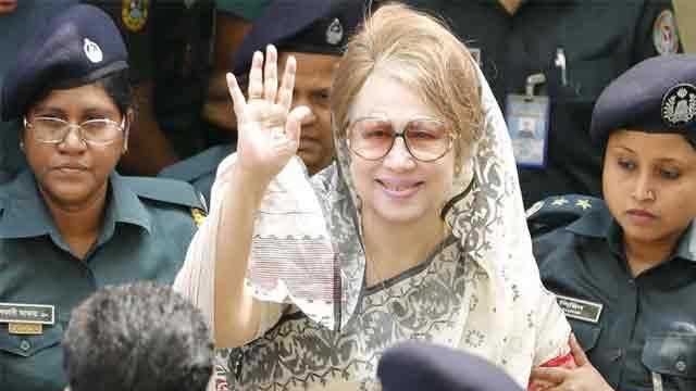 Khaleda Zia shown arrested