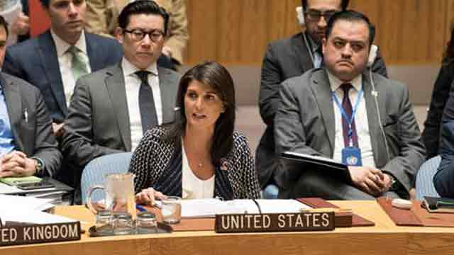 Haley's remarks at UNSC meeting on response to Syria's chemical weapons use