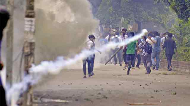 Police fire teargas shells, disperse students