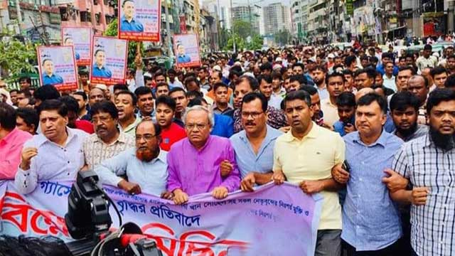 BNP stages demo protesting at gas price hike