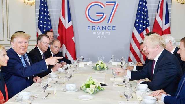 Trump backs Johnson, sends mixed signals on China at G7