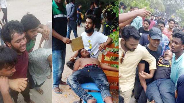 50 hurt as outsiders swoop on BSMRSTU students
