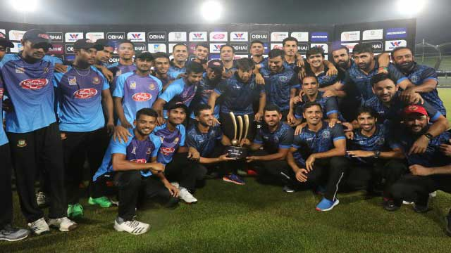 Trophy shared as rain washes out final