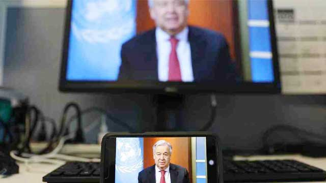 UN chief reiterates global ceasefire appeal as world fights COVID-19