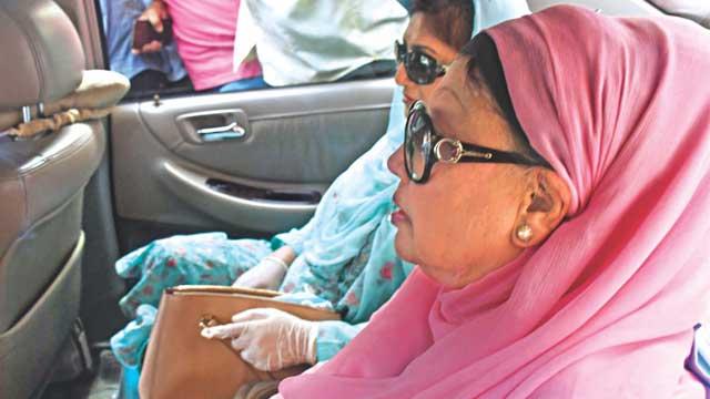 Khaleda Zia enjoys Eid at home with family