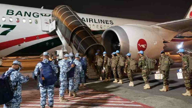 First Time in UN History: Biman carries Bangladeshi Peacekeepers