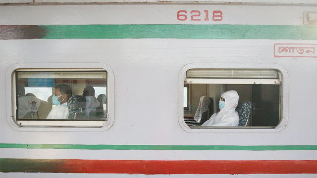 Train, launch services resume